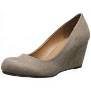 CL by Chinese Laundry Women's Nima Super Suede Wedge Pump Dark Taupe 8.5 B(M) US