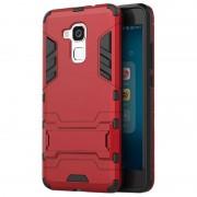 Bolsa Híbrida com Suporte Removível para Huawei Honor 5c, Honor 7 lite - Vermelho