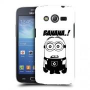 Husa Samsung Galaxy Core 4G LTE G386F Silicon Gel Tpu Model Minion Banana B&W