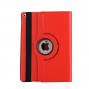 Shop4 - iPad 9.7 (2017) Hoes - Rotatie Cover Lychee Rood