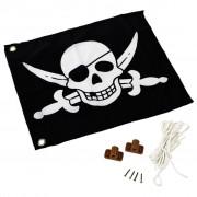 AXI Bandiera dei Pirati Bianca e Nera 55x45 cm A507.012.00