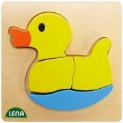 Lena fából készült puzzle - Kacsa