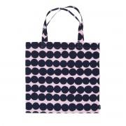 Marimekko - Räsymatto Einkaufstasche, pink / dunkelblau