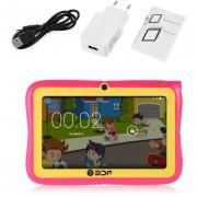 ER Pantalla De 7 Pulgadas A 1,3 Ghz De Núcleo Cuádruple De Brazo Para Android Wifi Mini Tablet PC Para Niños -Rosa