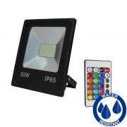 MasterLed - Projetor LED quadrado 50W PLANO RGB - MasterLed