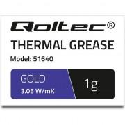 Pasta termoconductoare , Qoltec , 3.05 W/m/K , 1g , auriu