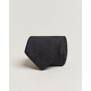 Eton Silk Basket Weave Tie Faded Black