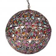 Maisons du Monde Lámpara de techo bola multicolor de metal cobrizo