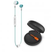 JBL Inspire 700 - безжични спортни слушалки с микрофон и управление на звука за iPhone, iPod и iPad и мобилни устройства (бял-син)