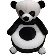 Shah Brothers Enterprises Toys Cute Panda Shape High Quality Soft Toy Chair|seat for Baby Sitting|Soft Toy Chair for Kids Birthday (Color- Black, Size- 45cm)