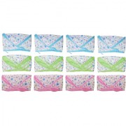 Saashika Baby Waterproof Plastic and Towel Nappy for Your Little Ones (12pc Set)(0-6months)