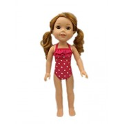 My Brittany's Pink Polka Dot Swimsuit for American Girl Dolls Wellie Wishers