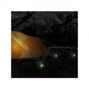 PROPLUS Tentharing 24cm met kunststof haak glow-in-the-dark set van 6 stuks