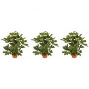 Bellatio flowers & plants 3x Schefflera kunstplant 55 cm - Kunstplanten