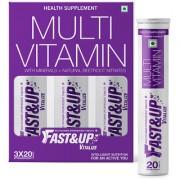 FastandUp Vitalize - Multi Vitamins Effervescent Multi Vitamin Supplements for Men and Women