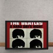 Quadro Decorativo Beatles Hard Days Night 25x35