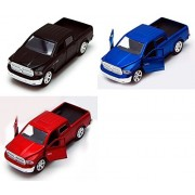 2013 Dodge Ram 1500 Pickup Truck, SET OF 3 - Jada Toys Just Trucks 97015 - 1/32 scale Diecast Model Toy Cars
