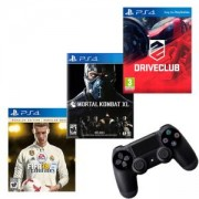 Игра FIFA 18 Ronaldo edition за Playstation 4+Игра DRIVECLUB PS4+Игра Mortal Kombat XL PS4+Геймпад - Sony PlayStation DualShock 4 Wireless