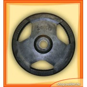 Rubber plate with grip 50mm (20 kg)