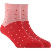 Soxytoes Dot Your Eyes Pink Cotton Ankle Length Pack of 1 Pair Polka Dot for Men Casual Socks (STS0002G)