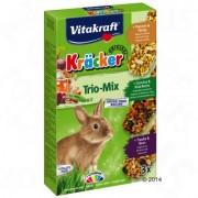Vitakraft Dwergkonijnen-Biscuits Trio-Mix -3 x 3 Combi (Multi-Vitamine, Groente, Popcorn)