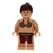 Lego Star Wars Mini Figure - Princess Leia Jabba's Slave (Approximately 45mm / 1.8 Inches Tall)