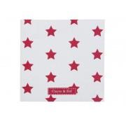 Papírové ubrousky - bílé s hvězdičkou