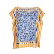 Alba Moda Bluse im Tücherstyle, blau