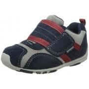 pediped Flex Adrian Sneaker (Toddler/Little Kid),Navy/Grey/Red,22 EU (6-6.5 M US Toddler)