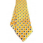 Krawat pomarańczowy - SZACHOWNICA W GWIAZDKI (K-25)