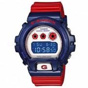 casio g-shock DW-6900AC-2 200m w / r reloj deportivo digital para hombre-rojo azul blanco