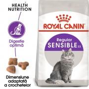 Royal Canin Sensible Hrană Uscată Pisică 10 kg + 2 kg