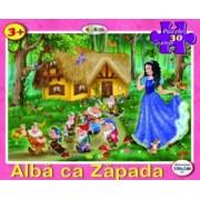 Puzzle - Alba ca zapada (30 piese)
