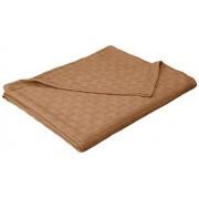 Impressions Blanket_Bas KG TP 100-Percent Cotton Basket Weave Blanket, King, Taupe
