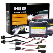 55W 3200LM H3 6000K HID Bulbs Xenon Light Conversion Kit with High Intensity Discharge Alloy Ballast White
