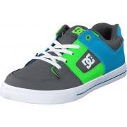 DC Shoes Pure Elastic Grey/green/blue, Skor, Sneakers & Sportskor, Sneakers, Turkos, Grå, Barn, 35