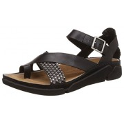 Clarks Women's Black Combi Leather Fashion Mary Jane Ankle Strap Sandals - 3.5 UK/India (36 EU)