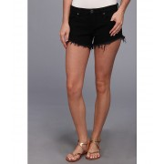 Blank NYC Solid Gold Cut Off Short in Black Black