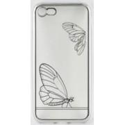 Skin Tellur pentru iPhone 7 Fluture Argintiu