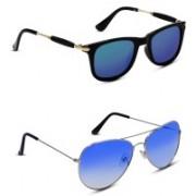 S JARI Aviator Sunglasses(Multicolor, Blue)