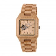 Earth Wood Black Rock Automatic Bracelet Watch - Khaki/Tan ETHEW4401
