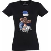 Tricou dama din bumbac 100 MAYKA model Mom of boys culoare negru marime 2XL