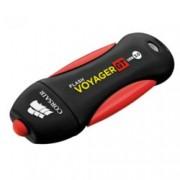 128GB USB Flash Drive, Corsair Voyager GT, водоустойчива, USB 3.0, черна/червена
