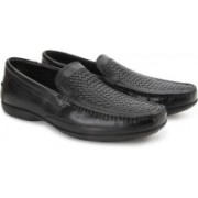 Clarks Finer Weave Black Leather Slip on For Men(Black)