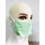 Atelierdumasque Lot de 4 masques motif fleur verte lacet