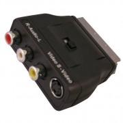Scanpart Adapter Scart-3xTulp+SVHS+Schakelaar