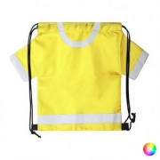 Hopfällbar väska ryggsäck med dragsko 146449 - Färg: Vit