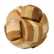 Joc logic IQ din lemn bambus Ball cutie metal