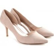 Madden Girl Women Taupe Fabric Heels