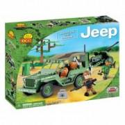 Set de construit Jeep Willys MB cu tun 2.0 190 piese - Cobi